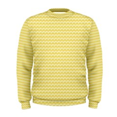 Pattern Yellow Heart Heart Pattern Men s Sweatshirt