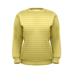 Pattern Yellow Heart Heart Pattern Women s Sweatshirt