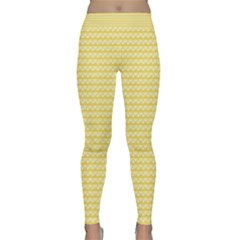 Pattern Yellow Heart Heart Pattern Classic Yoga Leggings