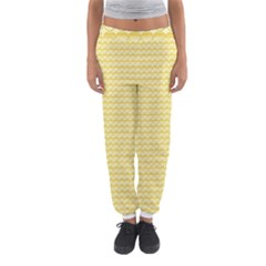 Pattern Yellow Heart Heart Pattern Women s Jogger Sweatpants
