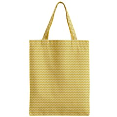 Pattern Yellow Heart Heart Pattern Zipper Classic Tote Bag