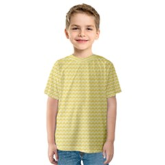 Pattern Yellow Heart Heart Pattern Kids  Sport Mesh Tee
