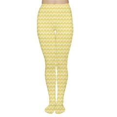 Pattern Yellow Heart Heart Pattern Women s Tights