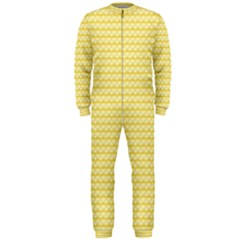 Pattern Yellow Heart Heart Pattern OnePiece Jumpsuit (Men)