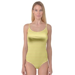 Pattern Yellow Heart Heart Pattern Camisole Leotard