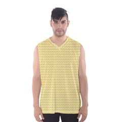 Pattern Yellow Heart Heart Pattern Men s Basketball Tank Top
