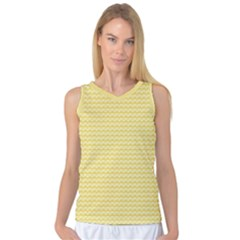 Pattern Yellow Heart Heart Pattern Women s Basketball Tank Top