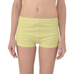 Pattern Yellow Heart Heart Pattern Boyleg Bikini Bottoms
