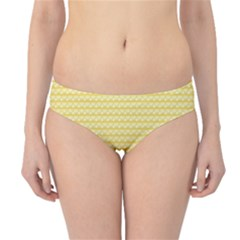Pattern Yellow Heart Heart Pattern Hipster Bikini Bottoms