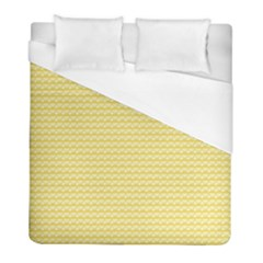 Pattern Yellow Heart Heart Pattern Duvet Cover (Full/ Double Size)