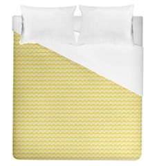 Pattern Yellow Heart Heart Pattern Duvet Cover (Queen Size)