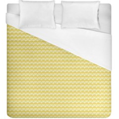 Pattern Yellow Heart Heart Pattern Duvet Cover (King Size)