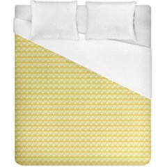 Pattern Yellow Heart Heart Pattern Duvet Cover (California King Size)