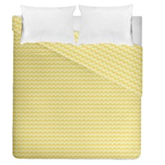 Pattern Yellow Heart Heart Pattern Duvet Cover Double Side (Queen Size)