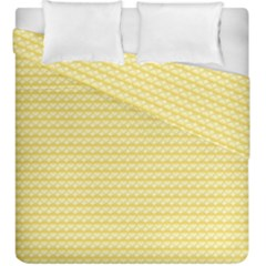 Pattern Yellow Heart Heart Pattern Duvet Cover Double Side (King Size)