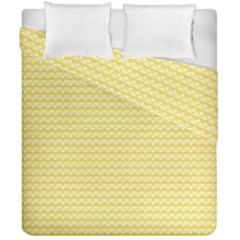 Pattern Yellow Heart Heart Pattern Duvet Cover Double Side (California King Size)