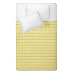 Pattern Yellow Heart Heart Pattern Duvet Cover Double Side (Single Size)