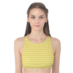Pattern Yellow Heart Heart Pattern Tank Bikini Top