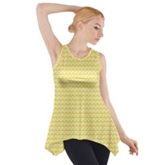Pattern Yellow Heart Heart Pattern Side Drop Tank Tunic