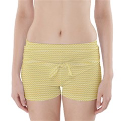 Pattern Yellow Heart Heart Pattern Boyleg Bikini Wrap Bottoms