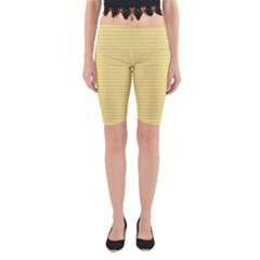 Pattern Yellow Heart Heart Pattern Yoga Cropped Leggings
