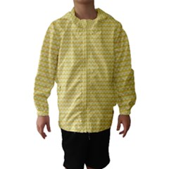 Pattern Yellow Heart Heart Pattern Hooded Wind Breaker (Kids)
