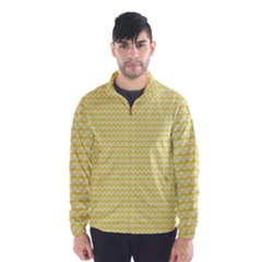 Pattern Yellow Heart Heart Pattern Wind Breaker (Men)
