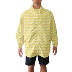 Pattern Yellow Heart Heart Pattern Wind Breaker (Kids)
