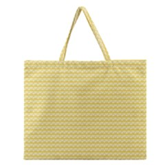 Pattern Yellow Heart Heart Pattern Zipper Large Tote Bag