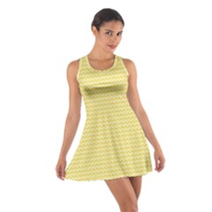 Pattern Yellow Heart Heart Pattern Cotton Racerback Dress