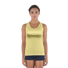Pattern Yellow Heart Heart Pattern Women s Sport Tank Top