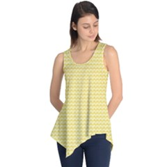Pattern Yellow Heart Heart Pattern Sleeveless Tunic