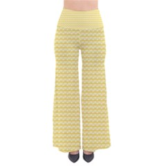 Pattern Yellow Heart Heart Pattern Pants