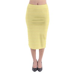 Pattern Yellow Heart Heart Pattern Midi Pencil Skirt