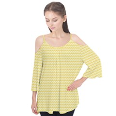 Pattern Yellow Heart Heart Pattern Flutter Tees