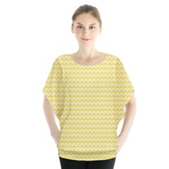 Pattern Yellow Heart Heart Pattern Blouse