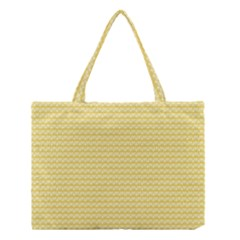 Pattern Yellow Heart Heart Pattern Medium Tote Bag