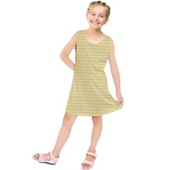 Pattern Yellow Heart Heart Pattern Kids  Tunic Dress