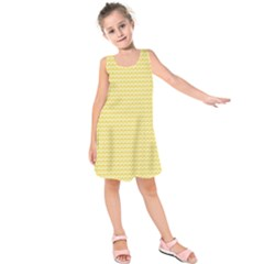 Pattern Yellow Heart Heart Pattern Kids  Sleeveless Dress