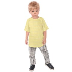 Pattern Yellow Heart Heart Pattern Kids  Raglan Tee