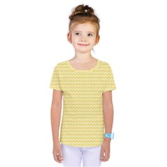 Pattern Yellow Heart Heart Pattern Kids  One Piece Tee