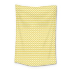 Pattern Yellow Heart Heart Pattern Small Tapestry