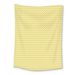 Pattern Yellow Heart Heart Pattern Medium Tapestry