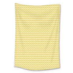 Pattern Yellow Heart Heart Pattern Large Tapestry