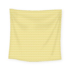 Pattern Yellow Heart Heart Pattern Square Tapestry (Small)