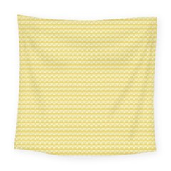 Pattern Yellow Heart Heart Pattern Square Tapestry (Large)