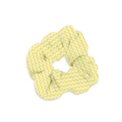 Pattern Yellow Heart Heart Pattern Velvet Scrunchie