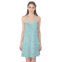 Flower Pink Love Background Texture Camis Nightgown