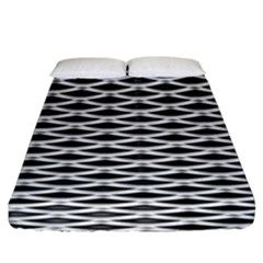 Expanded Metal Facade Background Fitted Sheet (king Size) by Nexatart