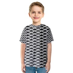 Expanded Metal Facade Background Kids  Sport Mesh Tee